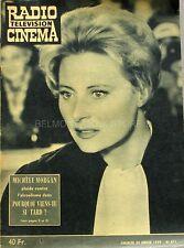 Radio Cinéma n° 471 - 1959 - Michèle Morgan contre l'alcoolisme -