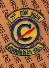 US Army 71st Constabulary Squadron SCHWABISH HALL GERMANY patch set