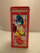M&M 2002 Collectible Tin Canister Telephone phone Booth Limited edition