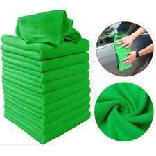 10 Green Towel Rag Microfiber Cleaning Cloths Car Detailing Polishing No-Scratch