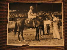 Kelso & Eddie Arcaro 5X Horse of the Year Racing Photo & Allaire du Pont Letter