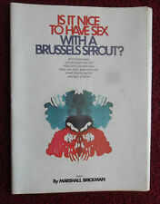 "1974 Magazine Article ""Brussels Sprout Sex' by Marshall Brickman w/ Bob Post ART"
