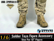 """1:6 ZY TOYS LOWA ZEPHYR Tactical Army Desert Military Combat Boots F 12"""" Figure"""
