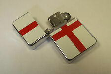 ENGLAND ENGLISH ST. GEORGE FLAG STEEL REFILLABLE CIGARETTE LIGHTER PETROL