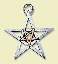 Doppel Pentagramm Schutz & Magie, Silber & Gold, Wicca, LARP, Mittelalter, Elfen