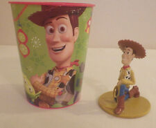 "Hallmark Toy Story Party Cup 4.5"" Tall and Disney Pixar Woody Figure 3"" Tall"