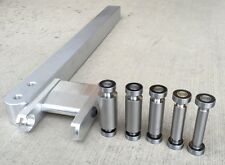 KNIFE MAKING SET: SMALL WHEEL HOLDER, 7 SMALL  WHEELS, 6061 ALUMINUM TOOL ARM