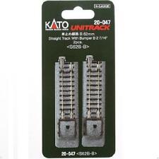 Kato 20-047 Rail Fin de Voie / Single Track With Bumper B 62mm 2pcs - N