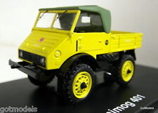 Schuco 1/43 Scale 03115 Mercedes Benz Unimog 401 Yellow diecast model truck