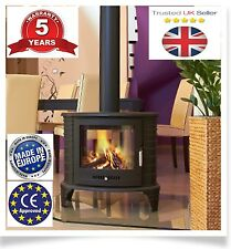 Koza k8 Tunnel Wood Burning Stove Curved Style up to11kW Double Sided RPR £920