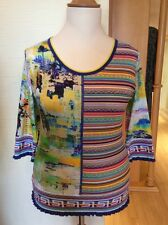 Olivier Philips Top Size 16 BNWT Yellow Green Pink Blue Striped RRP £111 Now £49