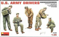 1/35 MiniArt 35180 - WWII US Army Drivers/Truck Crew 5 Figures Model