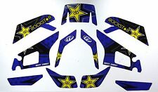 Yamaha Warrior Quad ATV Graphic Decal Kit West Coast Rock* Star Blue