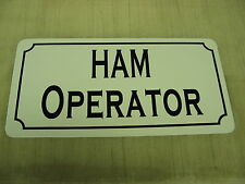 HAM OPERATOR Metal Sign 4 Antenna Tower Receiver Transmitter Shortwave Vehicle