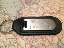 JAGUAR Key Ring Blind Etched On Leather XF XJ XK F TYPE