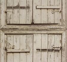 Vliestapete Rasch Crispy Paper Holz Fensterläden beige grau 525007 (2,35€/1qm)