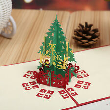 3D Pop Up Holiday Greeting Card Christmas Tree Easter Day    Decorations BE