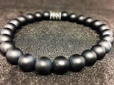 Onyx matt Armband Bracelet Perlenarmband Buddha schwarz