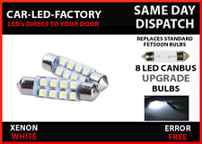 MG ZT ZR ZS CANBUS ERROR FREE 8 LED NUMBER PLATE LED LIGHT BULB FESTOON 36mm C5W