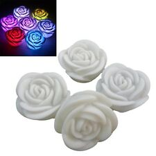 New Romantic Changing LED Floating Rose Flower Candle Night Light  Decoration