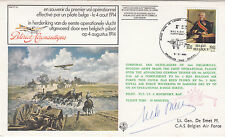 FF32c 1st Airman in Action over German lines Signed M De Smet Resistance,PoW,Pi