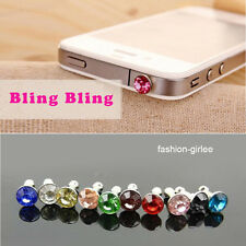 10Pcs Crystal Earphone Anti Dust Cap Jack Plug Stopper For Mobile Phone 10*3.5mm