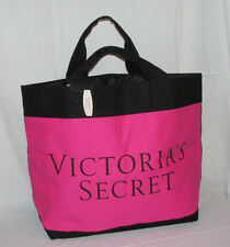 Victoria's Secret Hot Pink/Red/Black Block Canvas Purse/HandBag/Tote $78!