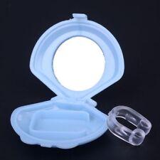 Anti Snore Device Silicon Stop Apnea Snoring Nose Clip Night Sleep Aid + Tray