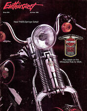 SUMMER 1988 HARLEY-DAVIDSON ENTHUSIAST MAGAZINE -85TH ANV FXSTS SPRINGER SOFTAIL