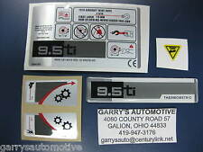 WARN 64713 Winch Replacement Decal Label Kit Set Sticker 9.5ti 9500 Pound