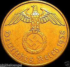 Germany - German 1938A Rare Third Reich 2 Reichspfennig Coin - World War 2 Coin