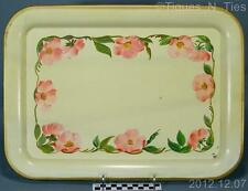 Rare Vintage Franciscan Desert Rose Handpainted E.T. Nash Metal Toleware Tray FF