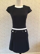 Miss Selfridge Blue And White Nautical Inspired Shift Dress. Size 8.