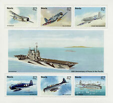 Nevis 1995 MNH WWII VJ Day 50th Anniv Peace in Pacific 6v M/S Fighter Planes
