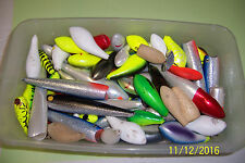 120+ vintage fishing blank lures made of wood different sizes (one price)