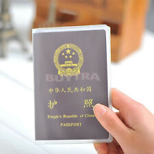 Transparent Passport Cover Holder Case Organizer ID Card Practical Tool Fad 5hk