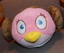 Angry Birds Star Wars PRINCESS LEIA Pink Brown Hair Plush Stuffed Plush ~ LARGE
