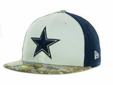DALLAS COWBOYS NFL SALUTE TO SERVICE NEW ERA 59FIFTY CAMO FITTED HAT CAP size 8