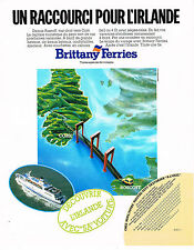 PUBLICITE ADVERTISING  1985   BRITTANY  FERRIES   voyages
