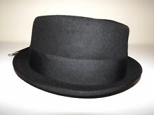 NEW MEN'S SCALA WORCHESTER DIAMOND SNAP BRIM HAT WITH EXTERIOR BAND BLACK LARGE