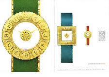 PUBLICITE  2000   GIANMARIA BUCCELLATI  collection montres (2 pages)