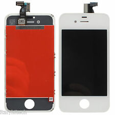DISPLAY IPHONE 4S BIANCO WHITE COMPLETO FRAME TOUCH SCREEN LCD SCHERMO ORIGINALE