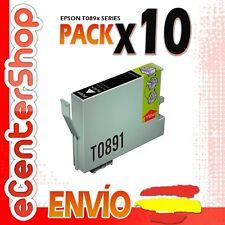 10 Cartuchos de Tinta Negra T0891 NON-OEM Epson Stylus SX218