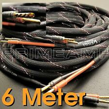 VENUS 6 Meter Golden Plated Audiophile Hi-end Sawtooth Speaker Cable Pair Tube