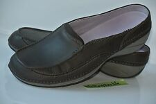 NEW Merrell Cima Womens Sz 7.5 Brown Leather Slip On Slides Shoes Loafers $95