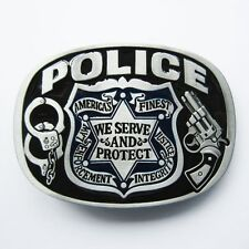 NEW POLICE LAW ENFORCEMENT COP JUSTICE AMERICA PROTECT GUN BELT BUCKLE