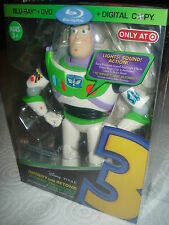 TOY STORY 3 TARGET EXCLUSIVE ULTIMATE BUZZ FIGURE BLU-RAY OOP RARE NEW SEALED