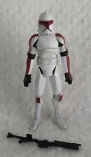 Star Wars Red CLONE TROOPER SENATE SECURITY action figure Clone Wars TCW SDCC