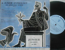 "A JUNIOR ANTHOLOGY OF ENGLISH VERSE PART 1 ~ 10"" VINYL LP"