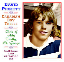 David Pickett Canadian Treble Boy Soprano 1978 Choir of Holy Trinity St George